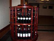 漆红色红酒中岛架ZD-11